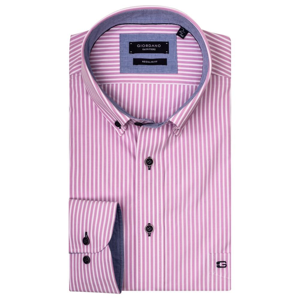 b3eecb0c7 Giordano Pink Striped Shirt - Brooks Shops - Menswear