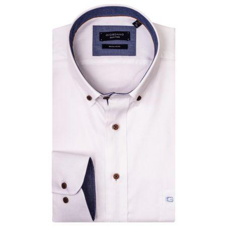 Giordano white Oxford cotton shirt