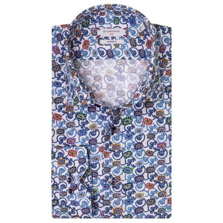 Giordano Blue Floral Shirt-917500