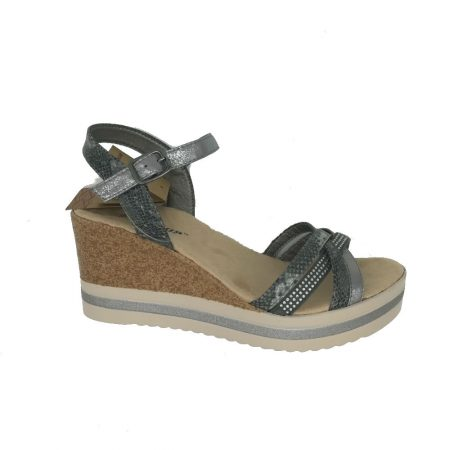 Dunlop Gypsy Pewter Wedge Sandals