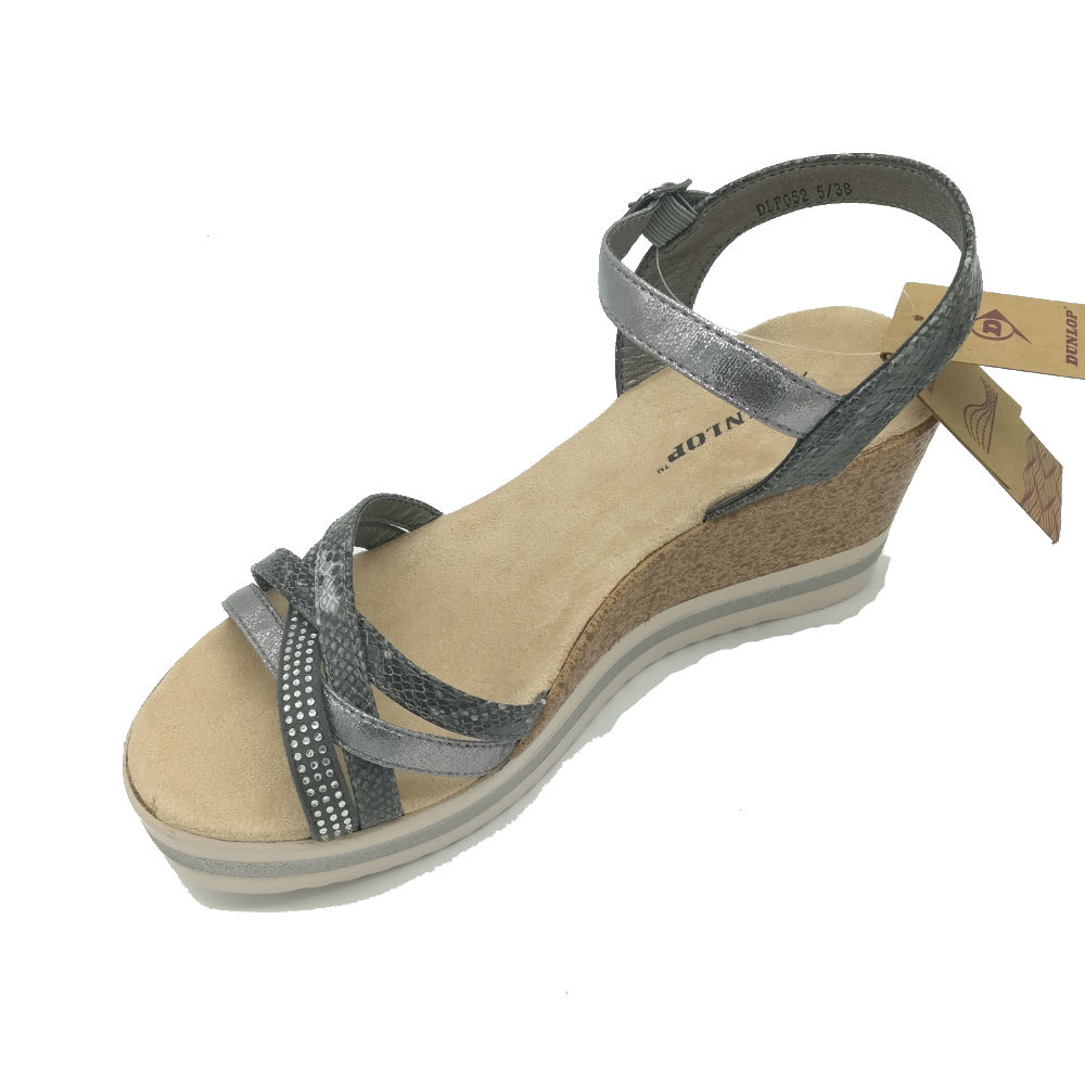 cc857570da93 Dunlop Gypsy Pewter Wedge Sandals - Brooks Shops