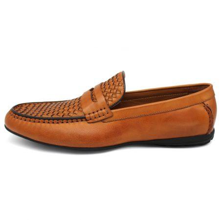Sergio Duletti tan leather slip on shoe
