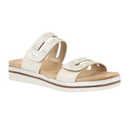 Lotus Halley Beige Flat Sandals