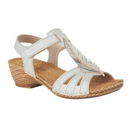 Lotus Melinda Blue Wedge Sandals