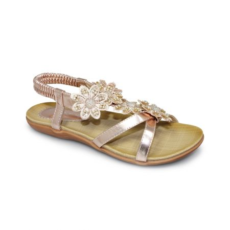 Lunar Fiji Rose Gold Sandals