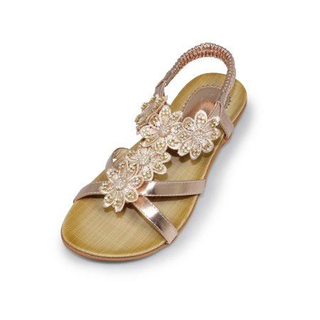 Lunar Fiji Rose Gold Sandals