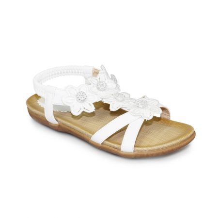 Lunar Kids Fiji White Sandals