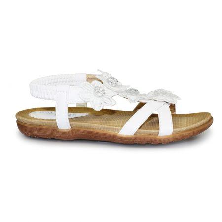 Lunar Kids Fiji White Sandals