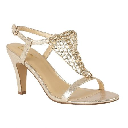 Lotus Lola Gold Heeled Sandals