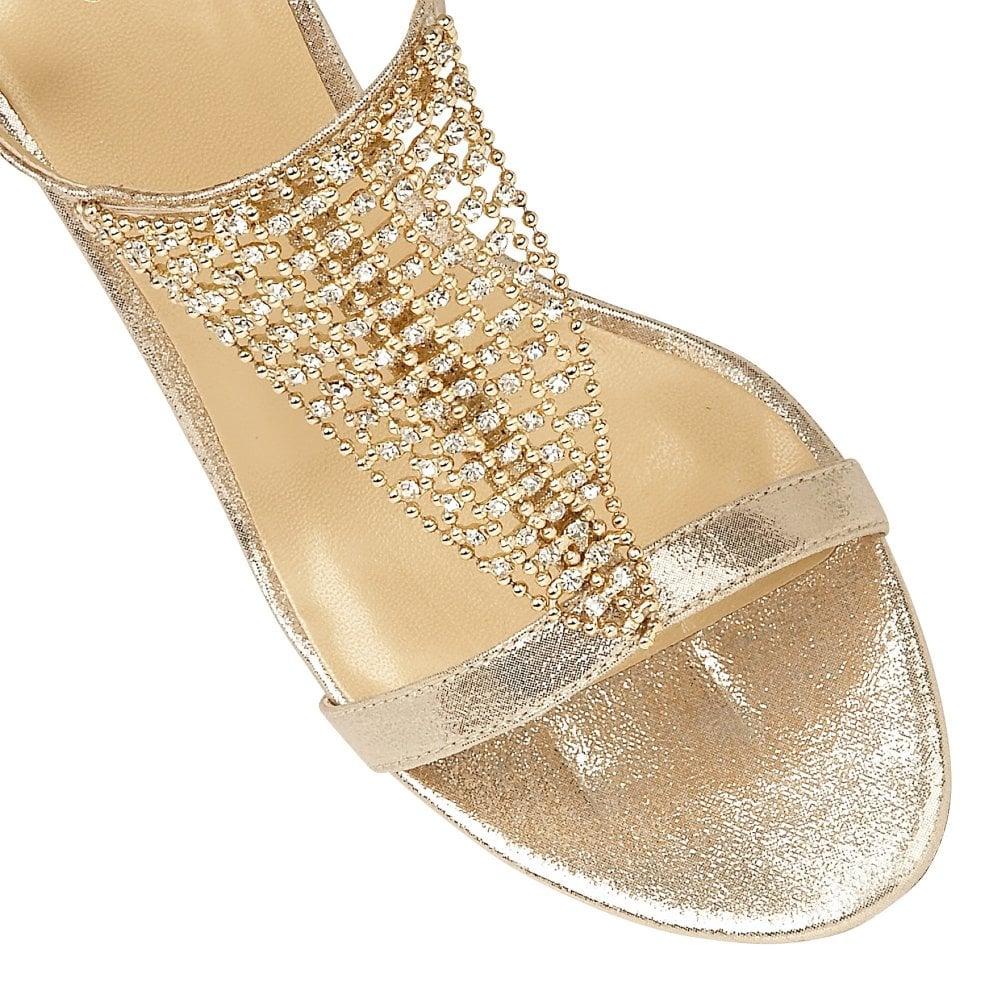 5fd096017520 Lotus Lola Gold Heeled Sandals - Brooks Shops
