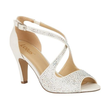 Lotus Rosa Ice Diamante Heels