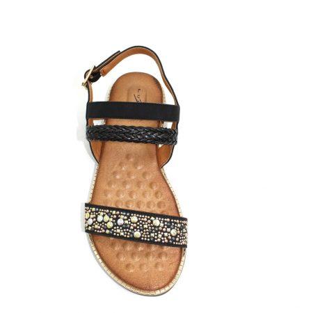 Lunar Jaya Black Flat Sandals
