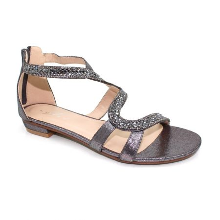 Lunar Arabia Pewter Gem Sandals