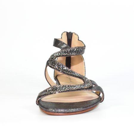 Lunar Arabia Pewter Gem Sandals