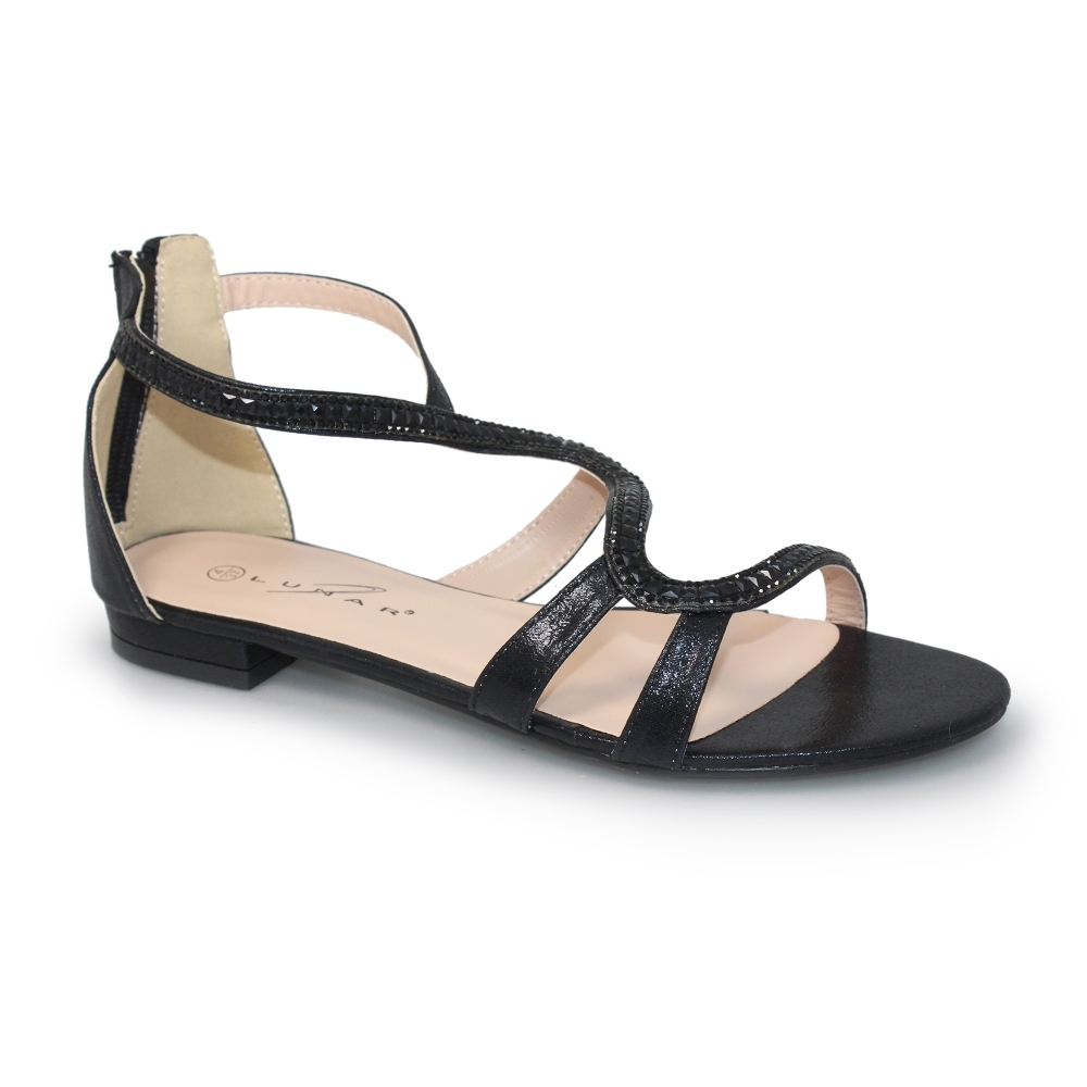 960985d7e9a Lunar Belle Black Gem Sandals - Brooks Shops