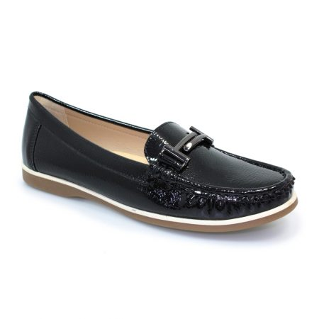 Lunar Cayson Black Patent Loafers