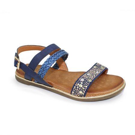 Lunar Jaya Navy Flat Sandals