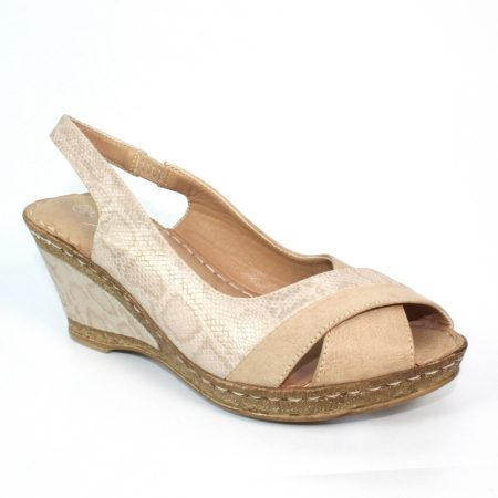 Lunar Nambia Beige Wedge Sandals