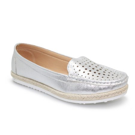 Lunar Tyler Silver Loafers