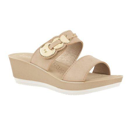 Lotus Roni Nude Mule Sandals