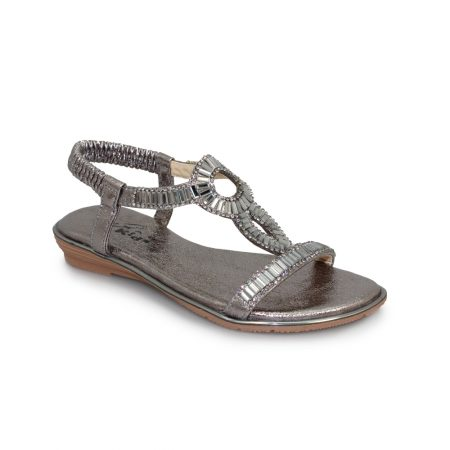 9682e9f8d Lunar Kids Samantha Pewter Sandals