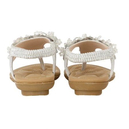 Lotus Chiquita Silver Flat Sandals