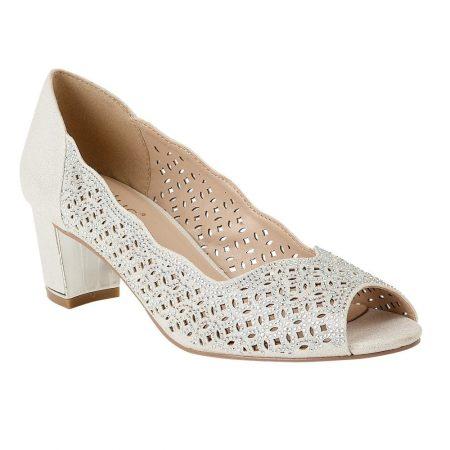 Lotus Attica Silver Block Heels