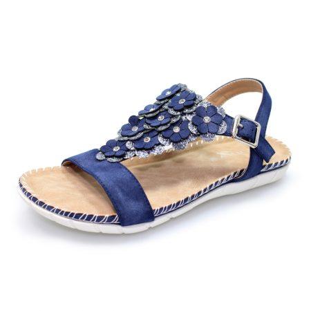Lunar Templeman Navy Floral Sandals