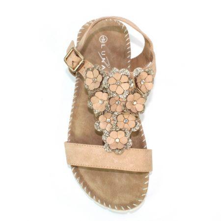 Lunar Templeman Beige Floral Sandals