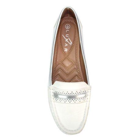 Lunar Vittoria White Loafers