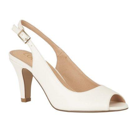 Lotus Zaria White Heeled Shoes