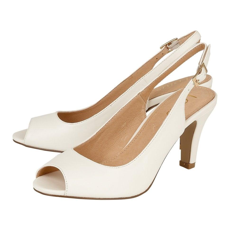 4bcef20192 Lotus Zaria White Heeled Shoes - Brooks Shops