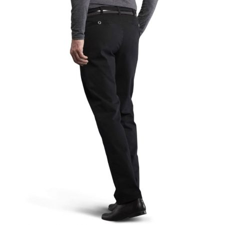 Meyer Black Chino Trousers