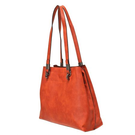 Envy Orange Medium Handbag