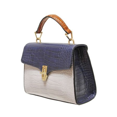 Envy Navy Snake Handbag