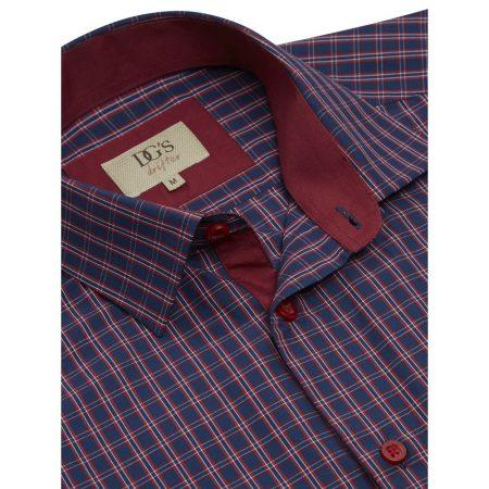 Drifter navy check shirt