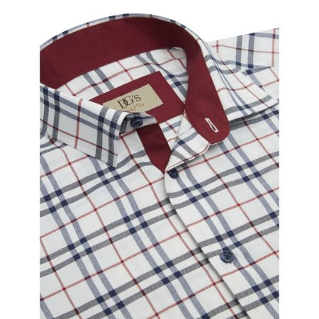Drifter white check shirt