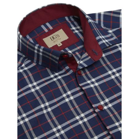 Drifter Navy Check Shirt