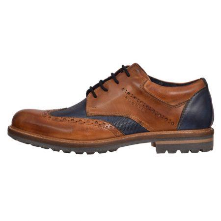 Bugatti brown blue brogue shoe