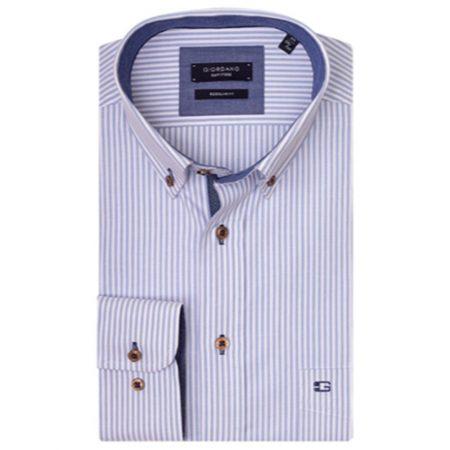 Giordano blue striped shirt
