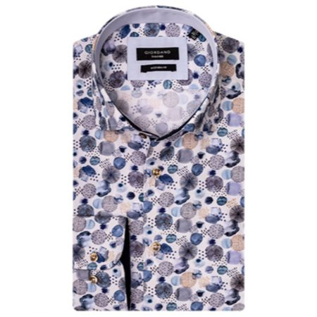 Giordano blue patterned shirt
