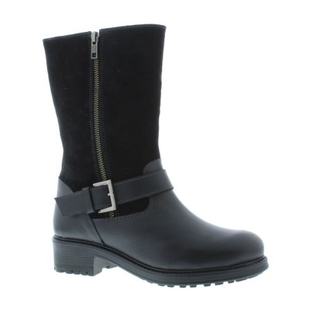 Adesso Jess Black Leather Boots