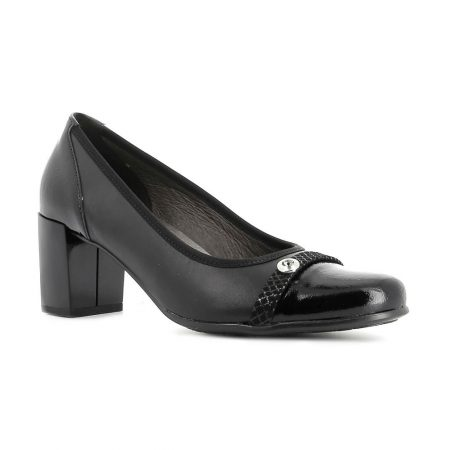 Alpina Portia Black Leather Shoes