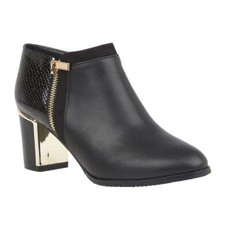 Lotus Chloe Black Shoe Boots