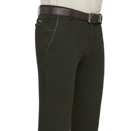 Meyer green cotton trousers