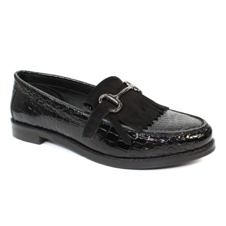 Lunar Portofino Black Loafers