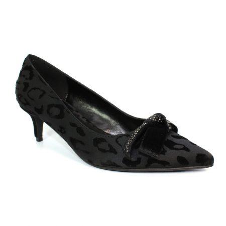 Lunar Raya Black Kitten Heels
