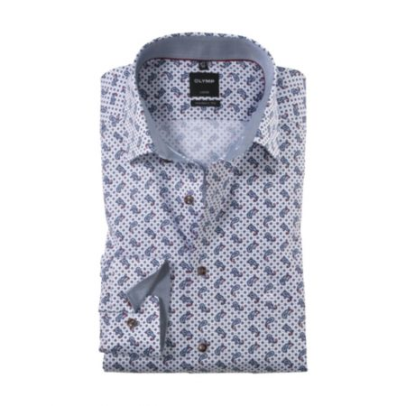 Olymp white patterned shirt