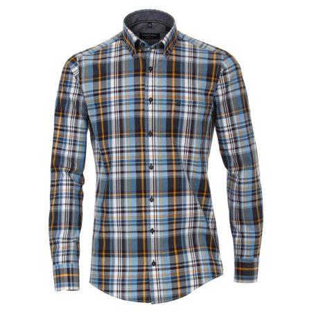 Casa Moda check cotton shirt