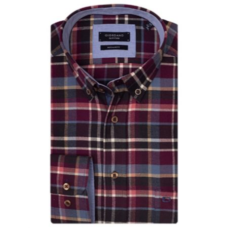 Giordano warm handle check shirt